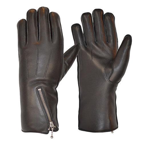 Zipped Merino Wool Lined Cafe Race Glove