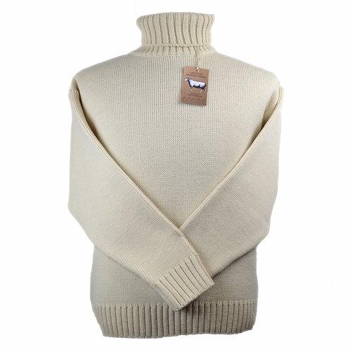 Classic Merino Wool Submariner Sweater - Ecru