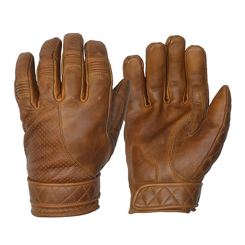 Short Cuff Bobber Gloves - Waxed Brown