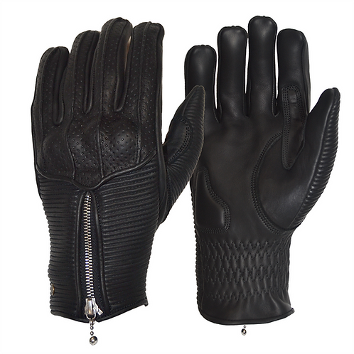 The Silk Lined Raptor Gloves - Black