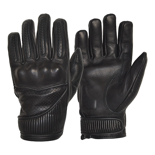 The Silk Lined Viceroy Gloves - Black