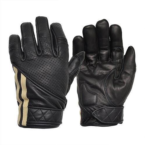 Short Racing Stripe Cafe Racer Gloves