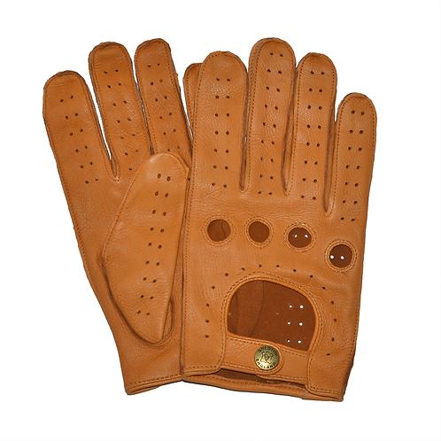 100% Deerskin Leather Driving Gloves - Tan