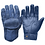 Goldtop Wolf Blue Cafe Racer Style Leather CE Armoured Cafe Racer Unlined Summer Motorcycle Gloves