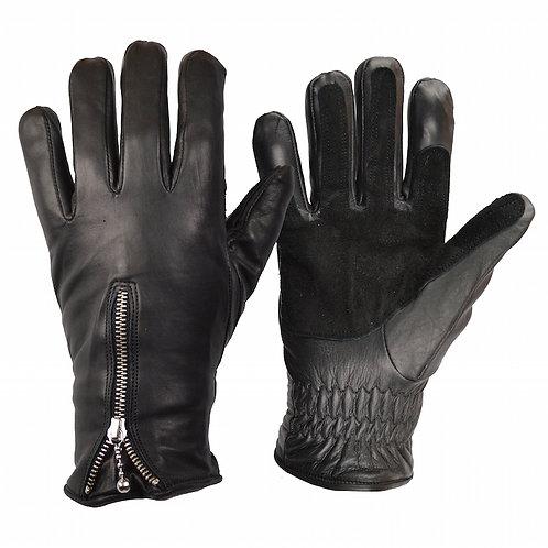 Zipped Cruiser Gloves - Black