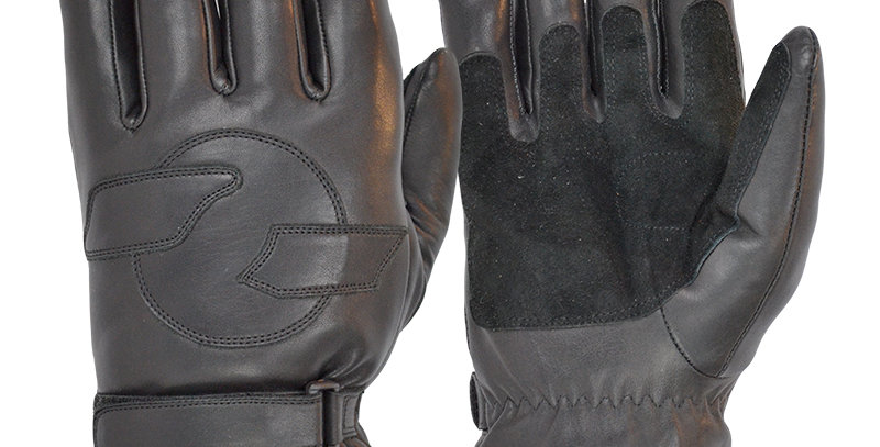 46726909d993f The Merino Wool Lined Classic Black Leather Cruiser Motorcycle Gloves