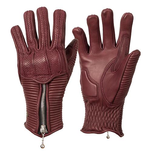Ladies Silk Lined Raptor Gloves - Burgundy