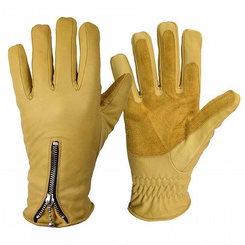 Zipped Cruiser Gloves - Tan