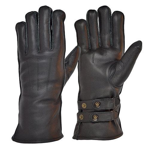 Twin Strap Merino Wool Lined Cafe Race Gloves