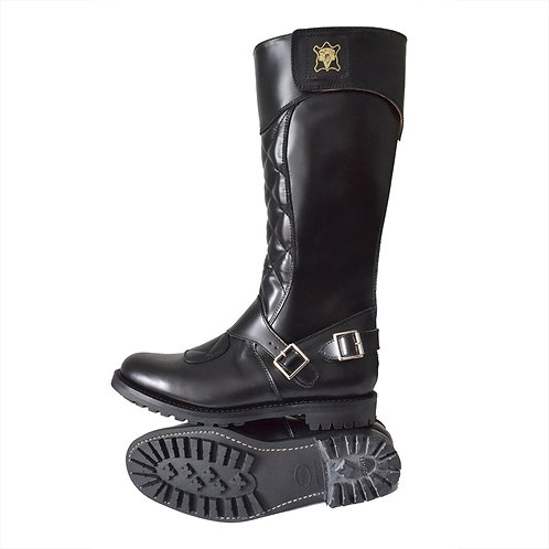 The Quilted Trophy Motorcycle Boots