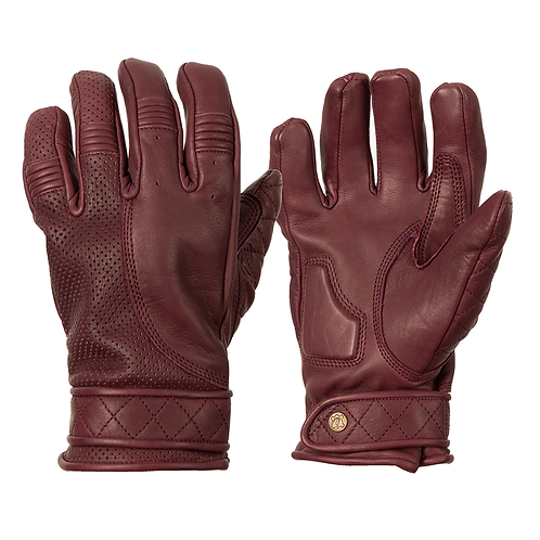 Ladies Short Cuff Bobber Gloves - Burgundy