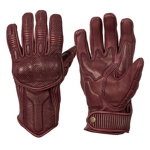 Ladies Silk Lined Predator Gloves - Burgundy