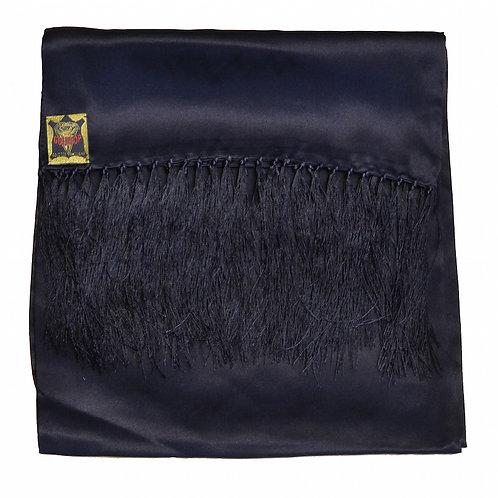 100% Silk Black Scarf