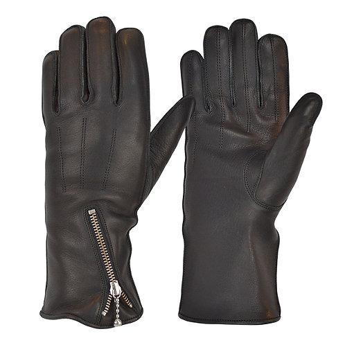 Zipped Fleece Lined Cafe Race Glove
