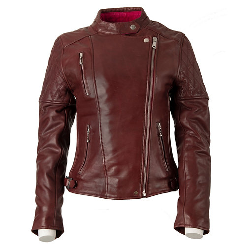 Ladies Bobber Jacket - Burgundy