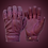 Mens Purple Berry Oxblood Leather Short Bobber Motorcycle Gloves Clenched Fist