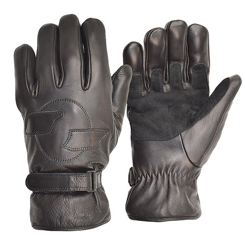 Fleece Lined Cruiser Gloves - Black