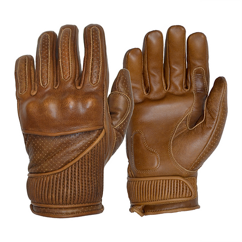 The Silk Lined Viceroy Gloves - Waxed Brown