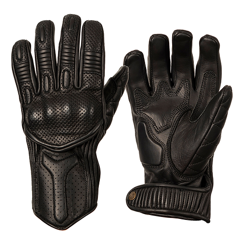Ladies Silk Lined Predator Gloves - Black
