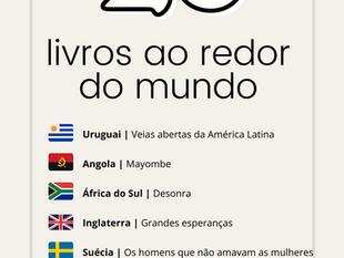 26 livros ao redor do mundo pra você viajar sem sair de casa