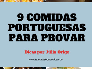 9 comidas portuguesas que você tem que experimentar em Portugal!
