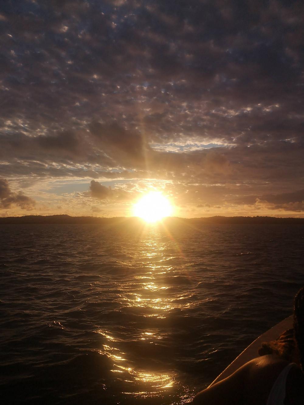 Pôr do Sol em Salvador, voltando do passeio de barco para as Ilhas dos Frades e Itaparica