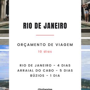 Quanto custa viajar para o Rio de Janeiro - orçamento de 10 dias