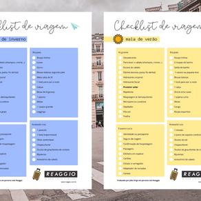Checklist de viagem para baixar   O que levar em uma viagem