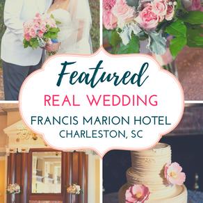 Blush Pink & Gold Romantic Wedding at Francis Marion Hotel