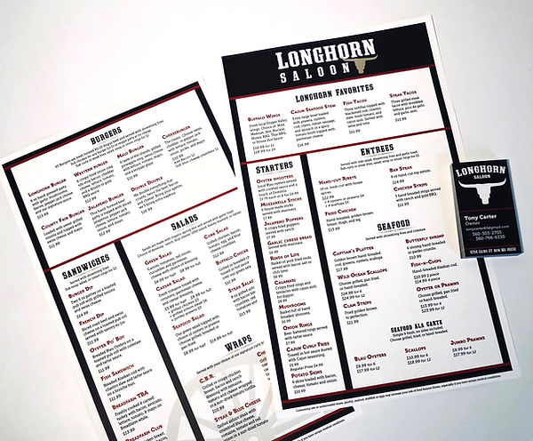 Menu Design | Bellingham