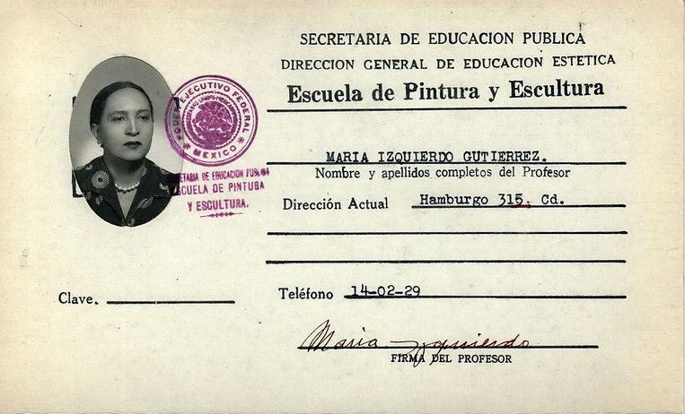 María Izquierdo 1943 kardex.jpg