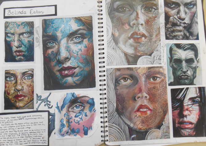 Year 12 sketchbook