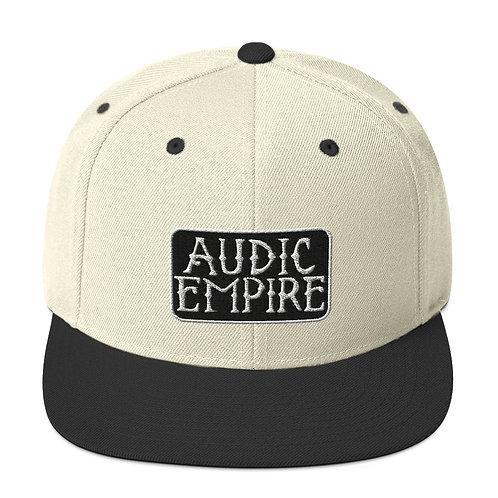 Black Logo Snapback Hat