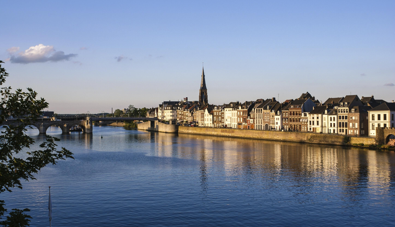 Maastricht at the river Maas