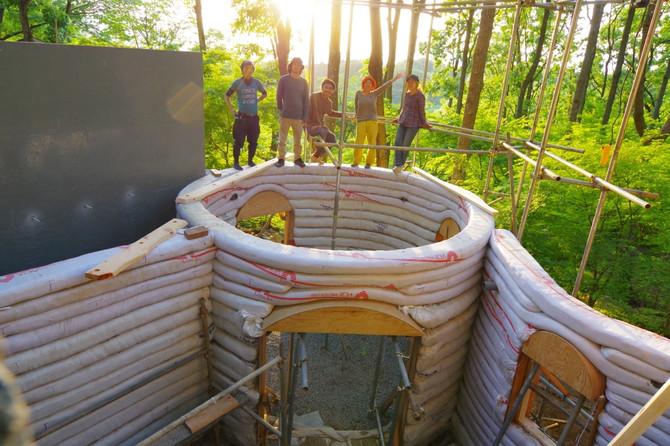 1階部分上棟しました @伊豆スターヒルズ増築プロジェクト