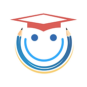 Student Savers Logo with red graduation cap and double sided pencil wrapped around smiling face