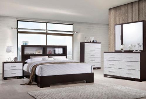 Bookcase Headboard Bedroom Set | discount modern furniture