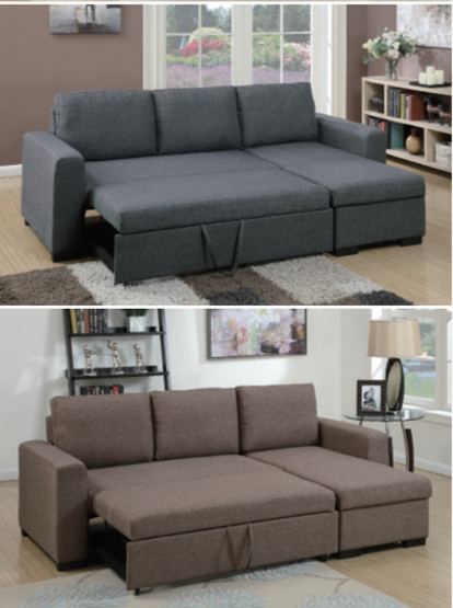reviews grey pcs blue modern with buy sectional sofa seat product pull polyfiber storage bed under out