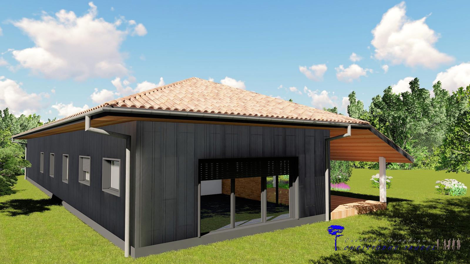 Bardage zinc joint debout plan permis de construire for Construire maison en 3d