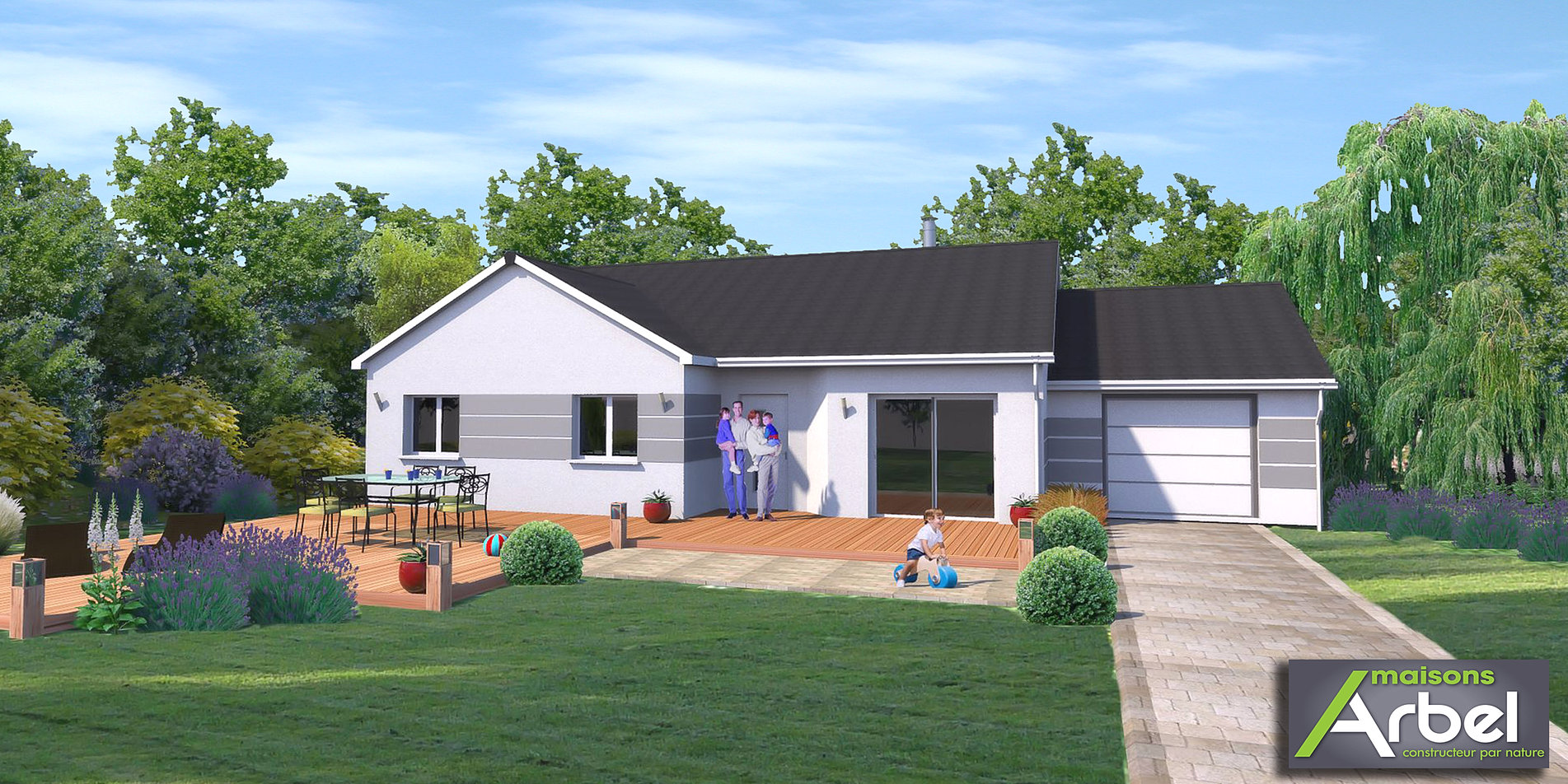 Plan permis de construire france christophe taurel for Construire maison en 3d