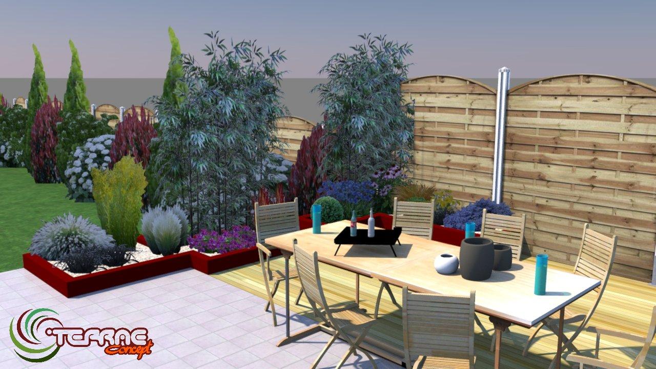 creation jardin 3d. Black Bedroom Furniture Sets. Home Design Ideas