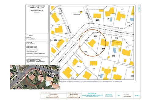 Exemple de plan de permis de construire 40 33 for Plan situation permis