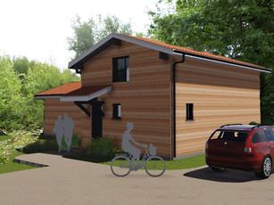 Maison ossature bois.