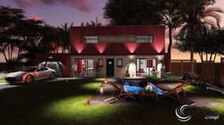Plan+de+jardin+3D,éclairage+extérieur.