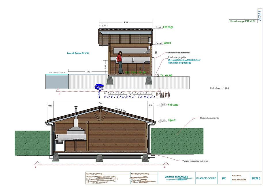 plan pool house 20m2 - house plans