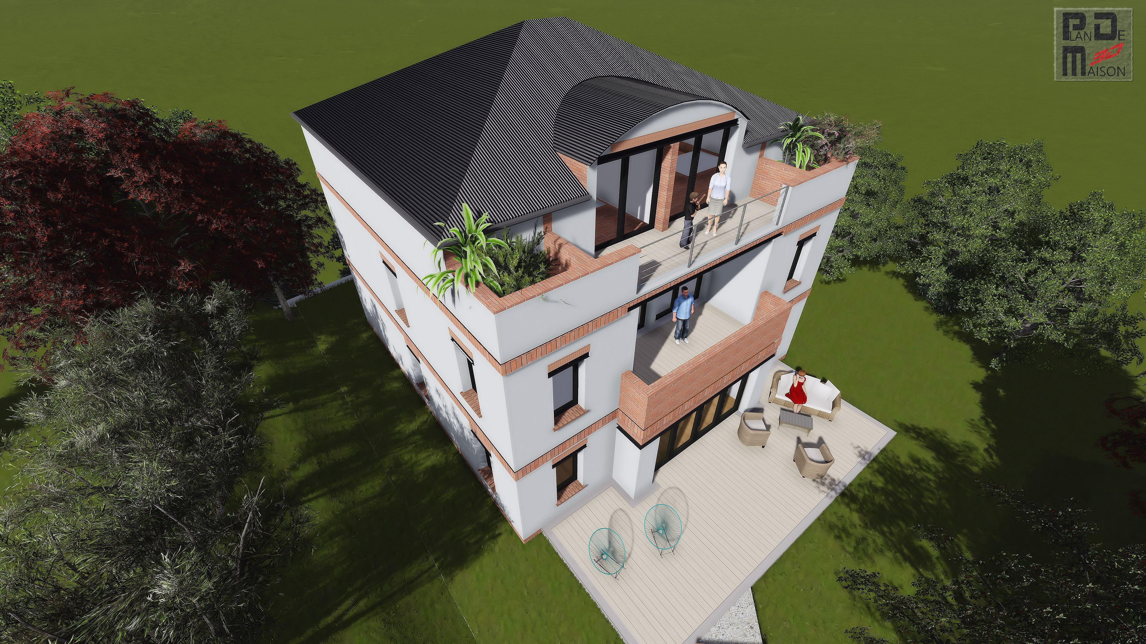 image maison 3d permis de construire plan maison 3d christophe taurel image de maison 3d paris. Black Bedroom Furniture Sets. Home Design Ideas