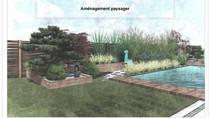 Plan de jardin Zen.