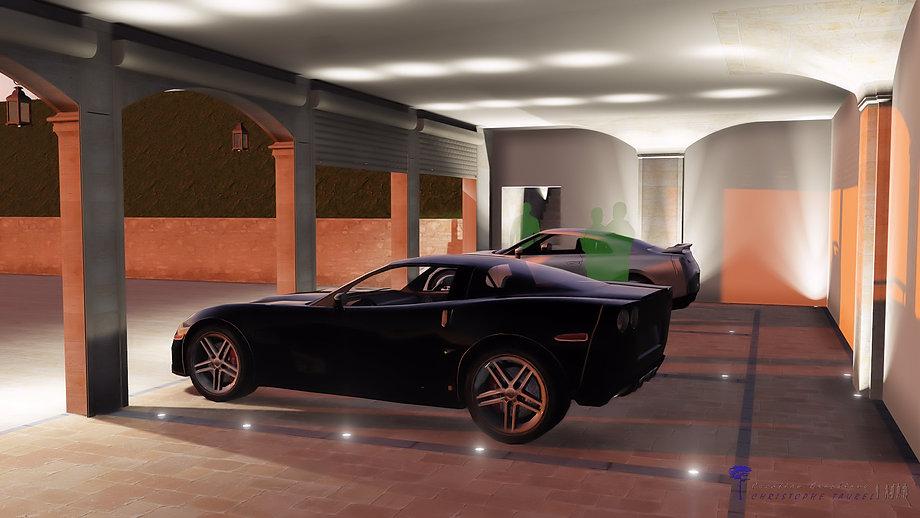 Clairage ext rieur led piscine et jardin cristophe taurel for Eclairage exterieur garage