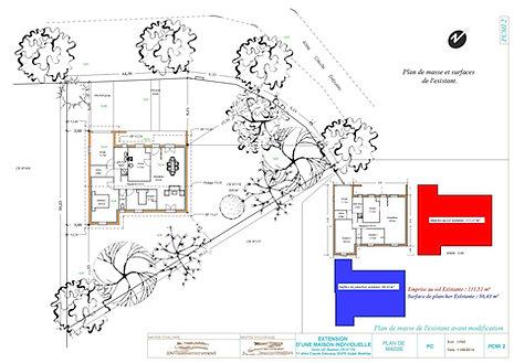 exemple de plan de permis de construire 40 33 christophe taurel. Black Bedroom Furniture Sets. Home Design Ideas