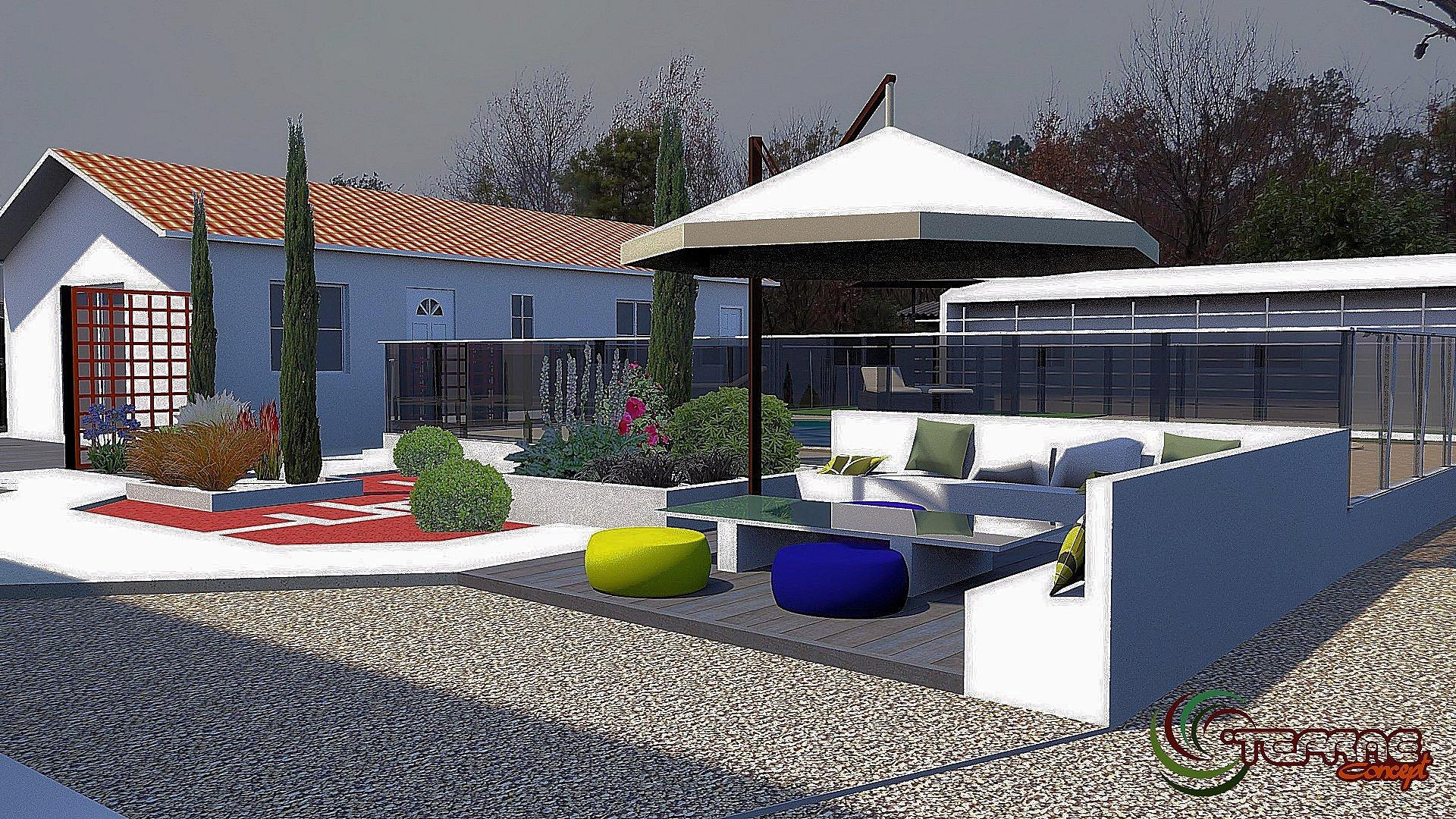 Plan maison jardin 3d for Jardin 3d en ligne